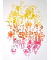 screen print alphabet