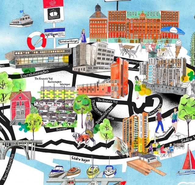 swedish map close up copy