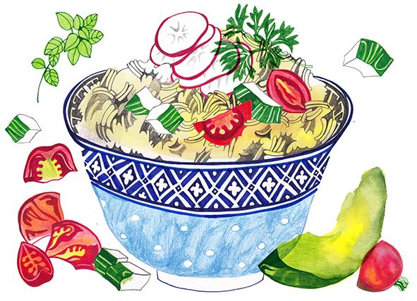 rice bowl and veg