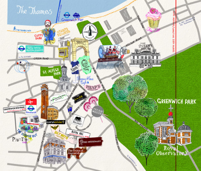 MapMyVillage Greenwich Map Area 5
