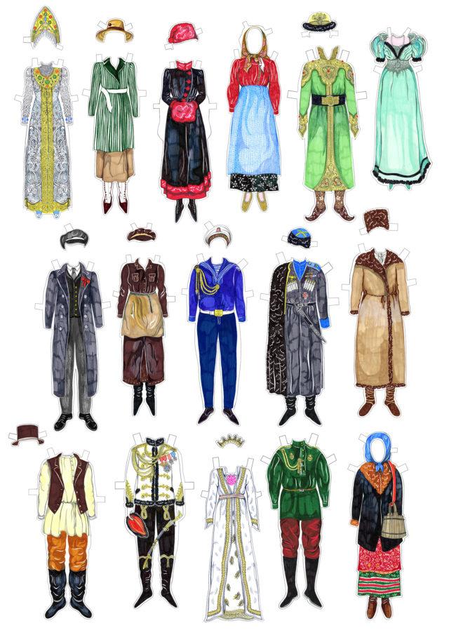 russian paper dolls