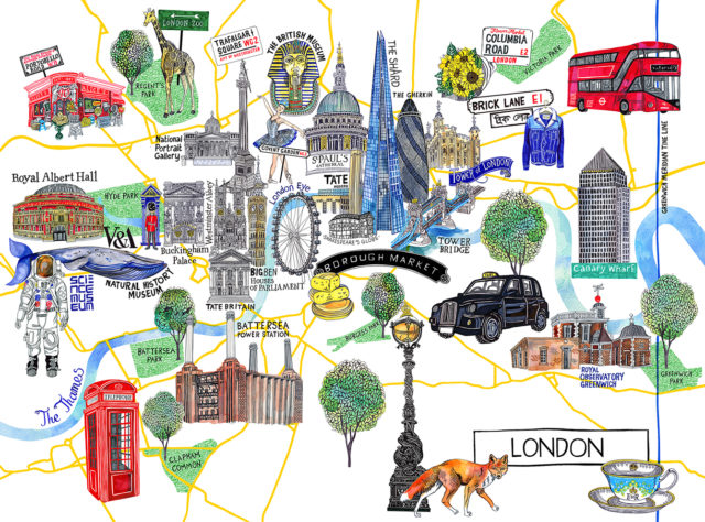 a2 london map